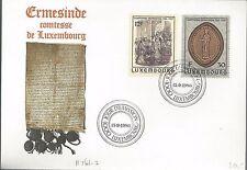 1986 Ermsinde Comtesse de Luxembourg FDC Scott 761-2