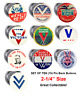 V for Victory WWII FREE SHIP-Set of 10-2.25 inch Buttons Reproductions pinback