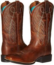 Ariat 244011 Womens Wide Square Toe Western Cowboy Boots Powder Brown Size 9 B