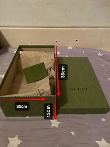 🎁Genuine Gucci Gift Shoes Box+ Paper +recipe holder(36*20*13cm)