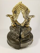 Vintage Cast Metal Flying Eagle Bookend Set.