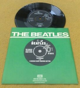 "BEATLES  "" YESTERDAY "" SUPERB NMINT VINYLED ORIG '76 UK 7"" IN SUPERB PIC SLEEVE"