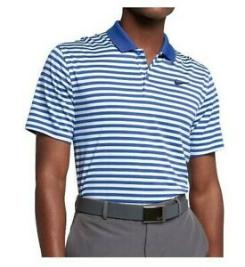 NIKE Golf Dri-Fit Victory Blue White Polo Shirt Men's Size XLarge 891239-480
