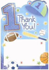 1st BIRTHDAY All-Star THANK YOU NOTES (20) ~ First Party Supplies Stationery Boy