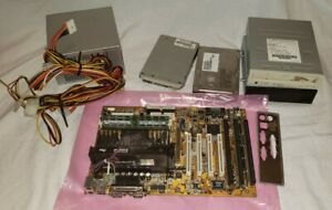 Lot of vintage pc parts, TESTED! Lots of old parts! Old Style Slot CPU PENTIUM 2