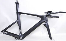 Carbon TT frame 54/56 cm Aero Triathlon Frame TRP Brake Fork Headset UD Matt BSA