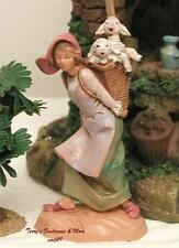 "Fontanini Depose Italy Retired 4.5"" Miriam w/Sheep Nativity Village Figure New"
