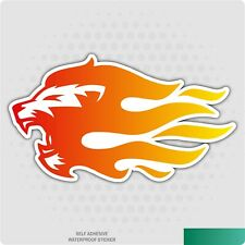 Roaring Lion Flames Car Sticker - Self-Adhesive Vinyl Decal for Car, Home Decor