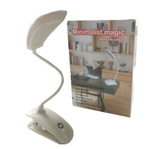 Rechargeable Flexible Adjustable LED Desk Lamp Reading Light 12 hour battery