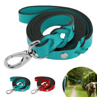 4ft Genuine Leather Pet Dog Leash Heavy Duty Braided Lead for Small Large Dogs