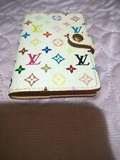 AUTHENTIC LOUIS VUITTON MURAKAMI multicolor address book cardholder RETIRED,RARE
