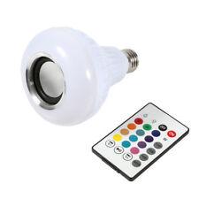 12w B22 LED RGB Wireless Bluetooth Speaker Bulb Light Music Playing Lamp Remote