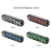 DIY Digital Dot Matrix LED Electronic Time Alarm Clock Kit Transparent Case W9D8