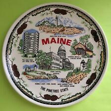"Collectible Plate Maine The Pinetree State Augusta Covered Bridge 9"" D"