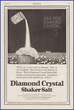 Vintage 1920 DIAMOND CRYSTAL Shaker Salt Kitchen Ephemera Décor Print Ad