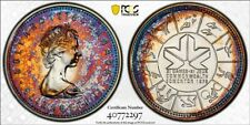 SP68 1978 $1 Canada Silver Commonwealth Games Dollar, PCGS Secure- Toned