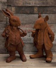 RABBIT &  RATTY  cast iron figures pair