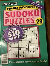Penny Press Family Favorites Sudoku Puzzles #29 NEW 510+ Puzzles