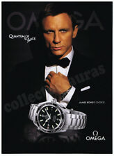 007 James Bond with Daniel Craig OMEGA mens watch advertisement A4 size HQ print