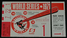 1971 - MLB - 68th WORLD SERIES - PITTSBURGH vs BALTIMORE - GAME 1 - TICKET