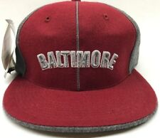 Baltimore Fitted Hat Cap Maroon Gray Headgear Negro League 100% Wool