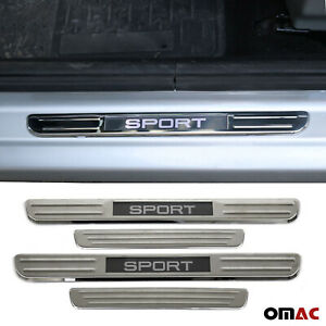 Chrome Door Sill Cover Illuminated Sport Plate 4 Pcs for Lexus IS LS LX NX RX UX