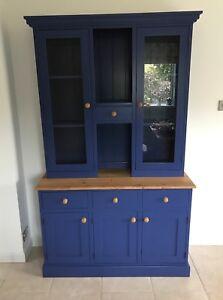 4 ft Glazed top dresser