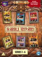 Nuevo Horrible Histories Series 1A 6 Colección Completa Más Specials DVD