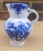 ROYAL WORCESTER Small Blue & White Jug / Creamer - The Pine Cone