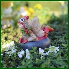 Fairy Garden Fun Christmas Mikayla Snow Sledding Miniature Figurine Dollhouse