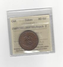 **Prov Canada Half Penny Token, Breton #720 ; CH# PC5B1, ICCS Graded*MS-60*Rep 2