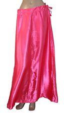 Pink satin Sari saree Petticoat Underskirt slip