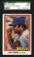 Joe Torre 1981 Donruss Sgc Coa Autograph Authentic Hand Signed
