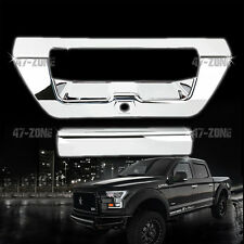 For 15-16 Ford F150 Chrome ABS Plastic Tail Gate Door Handle Cover