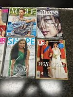 Lot of 8 Mixed Magazines. 1-Vogue, 1-Allure,1-shape,1-US, 2-People And 2-Glamour