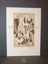EROTICA - Ex-Libris Originale Firmato Dusan Janousek Collez. Mario De Filippis