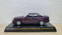 1/64 Kyosho NISSAN SKYLINE GT-R R33 AUTECH 40th ANNIV PURPLE diecast car model