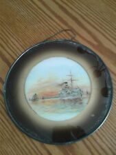 """Antique Chimney Flue Cover with glass/Ship/9.25"""" across"""