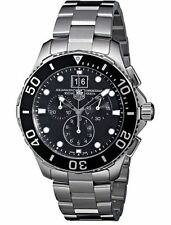 New Tag Heuer Aquaracer Grande Date Chronograph Men's Watch CAN1010.BA0821
