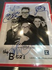 B-52s Full Group Autographed Signed 2x Matted Photograph Schneider Rock Lobster