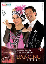 Andrea Buday und Thomas Kraml Dancing Star Original Signiert ## BC 19360
