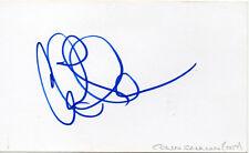 COLIN SALMON - Signed White Card - FILM - JAMES BOND