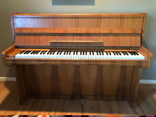 Ibach Upright Satin Teak Mid-Century Modern Piano from Germany