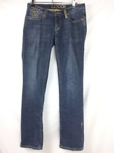 Coogi womens jeans size 9/10 light fade embroidered straight leg RN# 121510