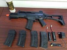 Elite Force G36C Airsoft Competition Rifle Starter Kit, BBs, Mags, Batteries,NEW