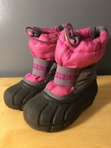 Sorel Winter Insulated Boots Toddler Sz 10 Pink