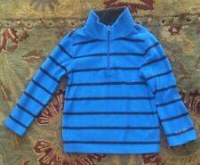 Gap Sz 4 Cozy Fleece 3/4 Zip Blue Stripe