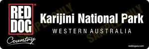 Red Dog Karijini National Park Bumper Sticker