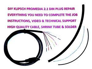 Klipsch ProMedia 2.1 Control Pod Module, Do It Yourself Repair Cable, DIN, DIY