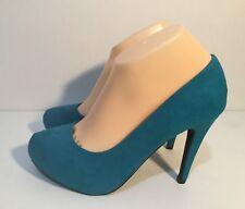 Size AU 8 / EUR 39 / UK 6/ US 8 Women's Suede Turquoise Platform High Heels